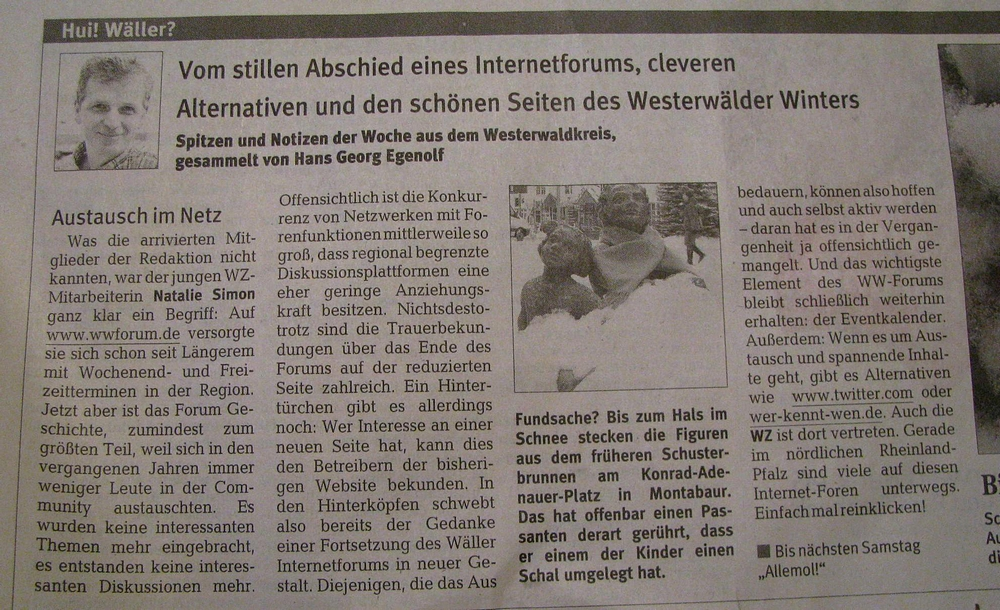 Rhein zeitung westerwald online dating 1