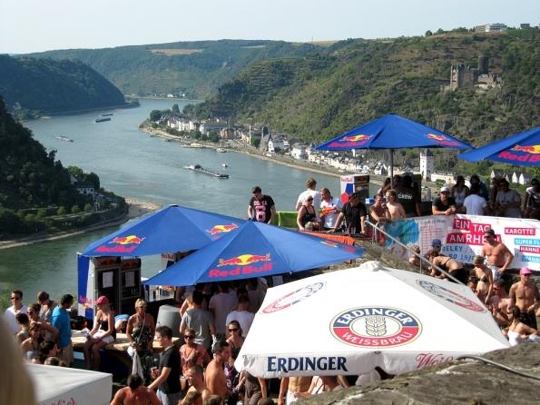 Blick auf den Rhein und das MIttelrheintal von der Loreley