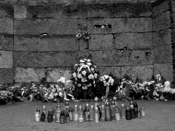 Auschwitz wall of death